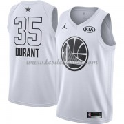 Maillot NBA Pas Cher Golden State Warriors Kevin Durant 35# White 2018 All Star Game Swingman..